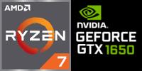 AMD Ryzen™ 7 5800H 8-Core Prozessor (16 Threads) 3.2GHz (4.4GHz Turbo), 4MB+16MB L2+L3 cache  Nvidia GeForce GTX-1650 4096MB GDDR6 (NH55EHQ)