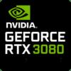 Nvidia GeForce RTX-3080 16384MB GDDR6, TGP 150W (165W max)