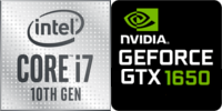 Intel® Core™ i7-10750H 6-Core processeur (12 Threads) 2.6GHz (5.0 GHz Turbo) 12Mo Smart Cache  Nvidia GeForce GTX-1650 4096Mo GDDR6 (NH77DBQ)