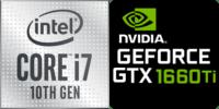 Intel® Core™ i7-10750H 6-Core processeur (12 Threads) 2.6GHz (5.0 GHz Turbo) 12Mo Smart Cache  Nvidia GeForce GTX-1660 Ti 6144Mo GDDR6 (NH55DCQ)