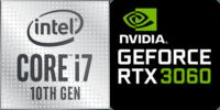 Intel® Core™ i7-10750H 6-Core Processeur (12 Threads) 2.6GHz (5.0 GHz Turbo) 12Mo Smart Cache  Nvidia GeForce RTX-3060 6144Mo GDDR6, TGP 80W (105W max) (NH77DPQ)