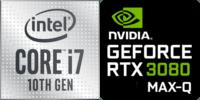 Intel® Core™ i7-10870H 8-Core Processor (16 Threads) 2.2GHz (5.0 GHz Turbo) 16MB Smart Cache  Nvidia GeForce RTX-3080 Max-Q 16384MB GDDR6, TGP 80W (95W max) (PC50DS)
