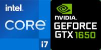Intel® Core™ i7-11800H 8-Core processeur (16 Threads) 2.3GHz (4.6 GHz Turbo) 24Mo Smart Cache  Nvidia GeForce GTX-1650 4096Mo GDDR6 (NH55HHQ)