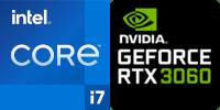 Intel® Core™ i7-11800H 8-Core processeur (16 Threads) 2.3GHz (4.6 GHz Turbo) 24Mo Smart Cache  Nvidia GeForce RTX-3060 6144Mo GDDR6 (NH55HPQ)
